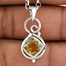 Big Dreamer 925 Sterling Silver Citrine Gemstone Pendant