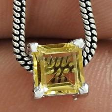 Cute 925 Sterling Silver Citrine Gemstone Pendant