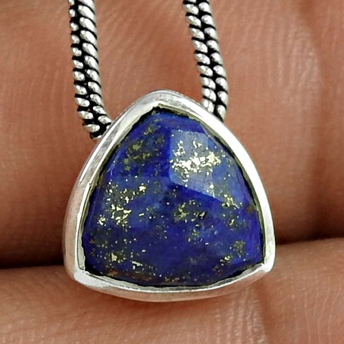 Slylish 925 Sterling Silver Lapis Gemstone Pendant