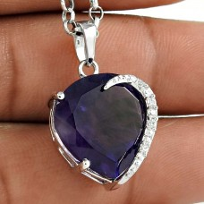 Dream Day 925 Sterling Silver Amethyst CZ Gemstone Pendant