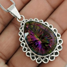 Latest Trend 925 Sterling Silver Mystic Gemstone Pendant Jewelry