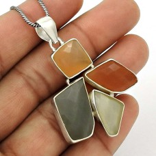Natural MOONSTONE Gemstone Pendant 925 Sterling Silver HANDMADE Jewelry AP17