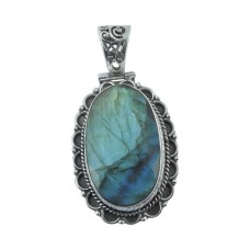 Secret! 925 Sterling Silver Labradorite Pendant