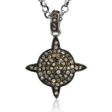 Awesome Style Of ! 925 Sterling Silver Single Cut Diamond Pendant