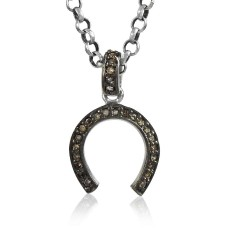Royal!! 925 Sterling Silver Single Cut Diamond Pendant