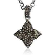 Big Inspire!! 925 Sterling Silver Single Cut Diamond Pendant Hersteller