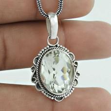 925 Silver Jewelry Beautiful Crystal Gemstone Pendant Wholesaler India