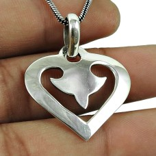 Handy 925 Sterling Silver Heart Pendant Sterling Silver Fashion Jewellery