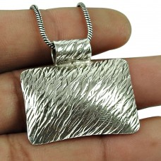 Perfect 925 Sterling Silver Pendant Sterling Silver Ethnic Jewellery