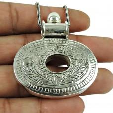 Seemly 925 Sterling Silver Ethnic Pendant Handmade Silver Jewellery