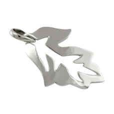 New Faceted!! 925 Sterling Silver Leaf Pendant Wholesaling
