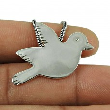 Engaging Sterling Silver Bird Pendant 925 Silver Fashion Jewellery