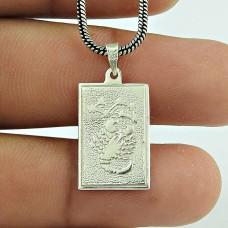 Solid 925 Sterling Silver Zodiac Pendant Jewellery