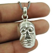 Designer 925 Sterling Silver Skull Pendant Sterling Silver Indian Jewellery