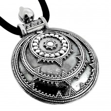 Indian Sterling Silver Jewellery Ethnic Oxidised Sterling Silver Pendant Großhändler
