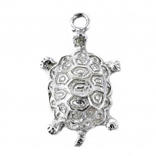 Sterling Silver Fashion Jewellery High Polish Silver Tortoise Pendant Lieferant