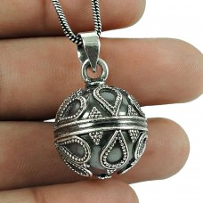 Good-Looking 925 Sterling Silver Ball Pendant 925 Silver Antique Jewellery