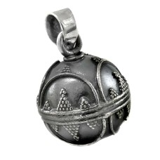 925 Silver Jewellery Traditional Oxidised Sterling Silver Ball Pendant Supplier