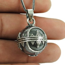 Designer 925 Sterling Silver Ball Pendant 925 Sterling Silver Indian Jewellery