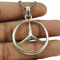 Daily Wear Handmade Sterling Silver Pendant 925 Silver Ethnic Jewellery