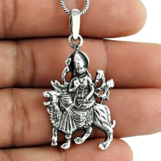 Maa Durga! 925 Sterling Silver Pendant