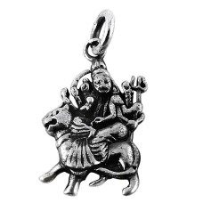 Handmade 925 Sterling Silver Durga Pendant