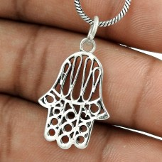 Beautiful!! 925 Sterling Silver Hamsa Pendant Hersteller
