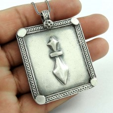 Big Natural!! 925 Sterling Silver Pendant