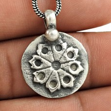 Big Natural Top!! 925 Sterling Silver Pendant