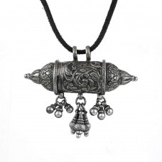 Classy Design!! Oxidised 925 Sterling Silver Bohemian Pendant