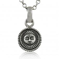 Gorgeous ! Sun Design 925 Sterling Silver Pendant