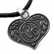 Heart Shape !! 925 Sterling Silver OM Pendant Wholesaler