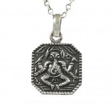 Lord Ganesh 925 Sterling Silver Pendant