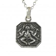 Lord Ganesh 925 Sterling Silver Pendant