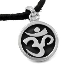 Royal Style ! 925 Sterling Silver OM Pendant