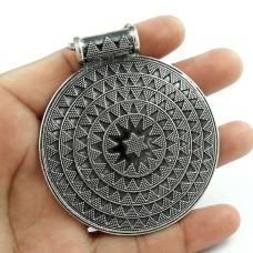 Jumbo Fantastic Oxidised 925 Sterling Silver Bohemian Pendant Jewellery