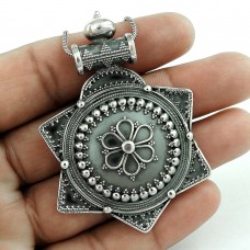 Beautiful 925 Sterling Silver Bohemian Handmade Pendant