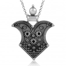 Ethnic Design Boho Handmade 925 Sterling Silver Pendant