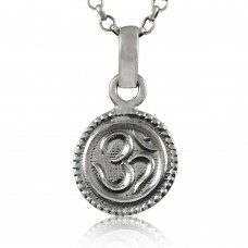 Blue Passion! 925 Sterling Silver OM Pendant