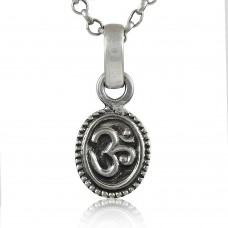 Big Amazing! 925 Sterling Silver OM Pendant