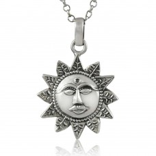 Beautiful 925 Sterling Silver Sun Pendant Wholesale Price