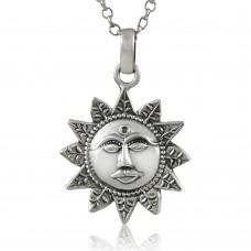 Beautiful 925 Sterling Silver Sun Pendant Wholesale Price