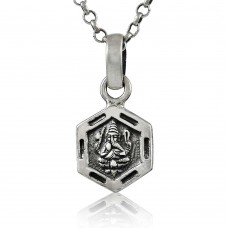 925 Sterling Silver Lord Ganesh Pendant