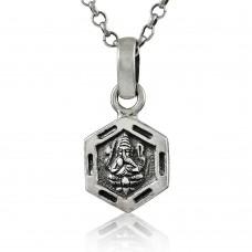 925 Sterling Silver Lord Ganesh Pendant