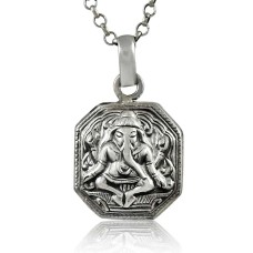 Before Time!! 925 Sterling Silver Ganesh Ji Pendant