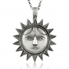 Big Awesome!! 925 Sterling Silver Sun Sun Pendant