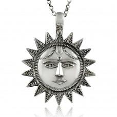 Big Awesome!! 925 Sterling Silver Sun Sun Pendant