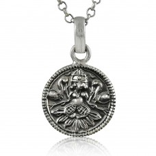 Indian God!! 925 Sterling Silver Pendant