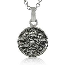 Bold Vintage Energetic!! 925 Sterling Silver God Pendant