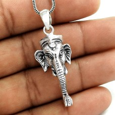 Ganesha Mouth Sterling Silver Jewellery Pendant